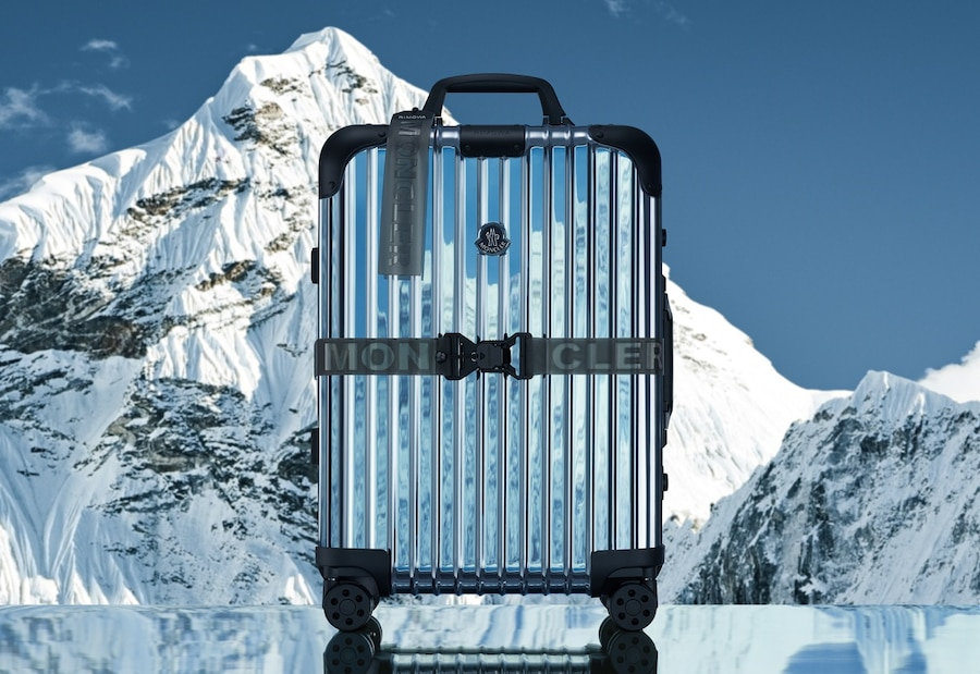 Moncler RIMOWA suitcase display