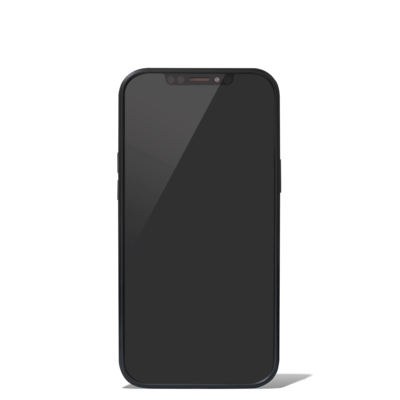 Polycarbonate Matte Black Groove Case for iPhone 12 Pro Max