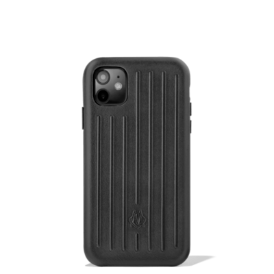 Leather Black Case for iPhone 11