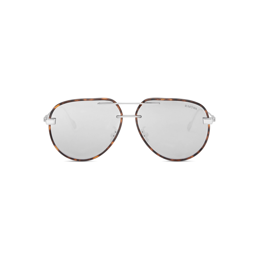 Pilot Havana White Mirrored Sunglasses