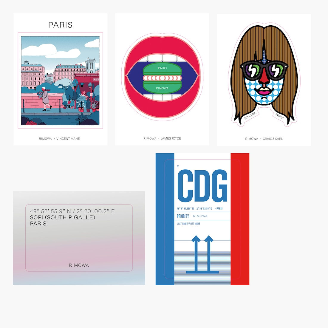 Paris City Sticker Set - City Stickers