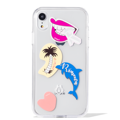 Transparent Stickers Case for iPhone XR