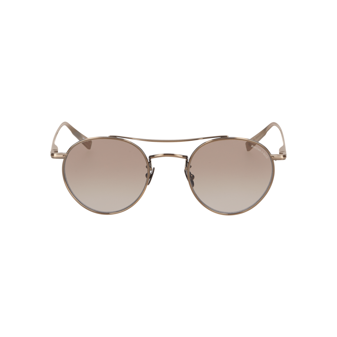 Sunglasses in Brushed Gold Metal