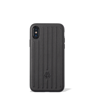 Leather Black Case for iPhone XS