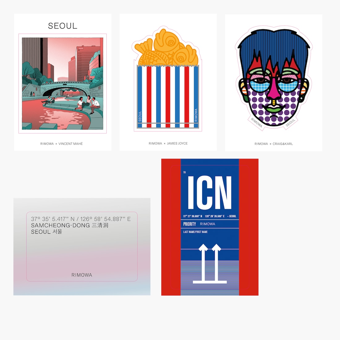 Seoul City Sticker Set - City Stickers